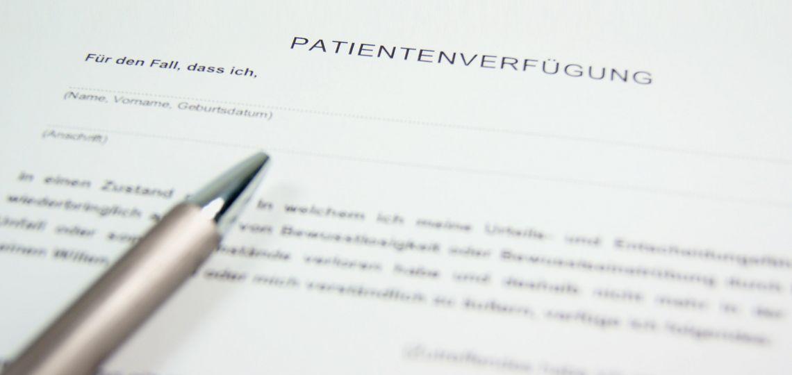 Patientenverfügung erstellen Muster Vorlage