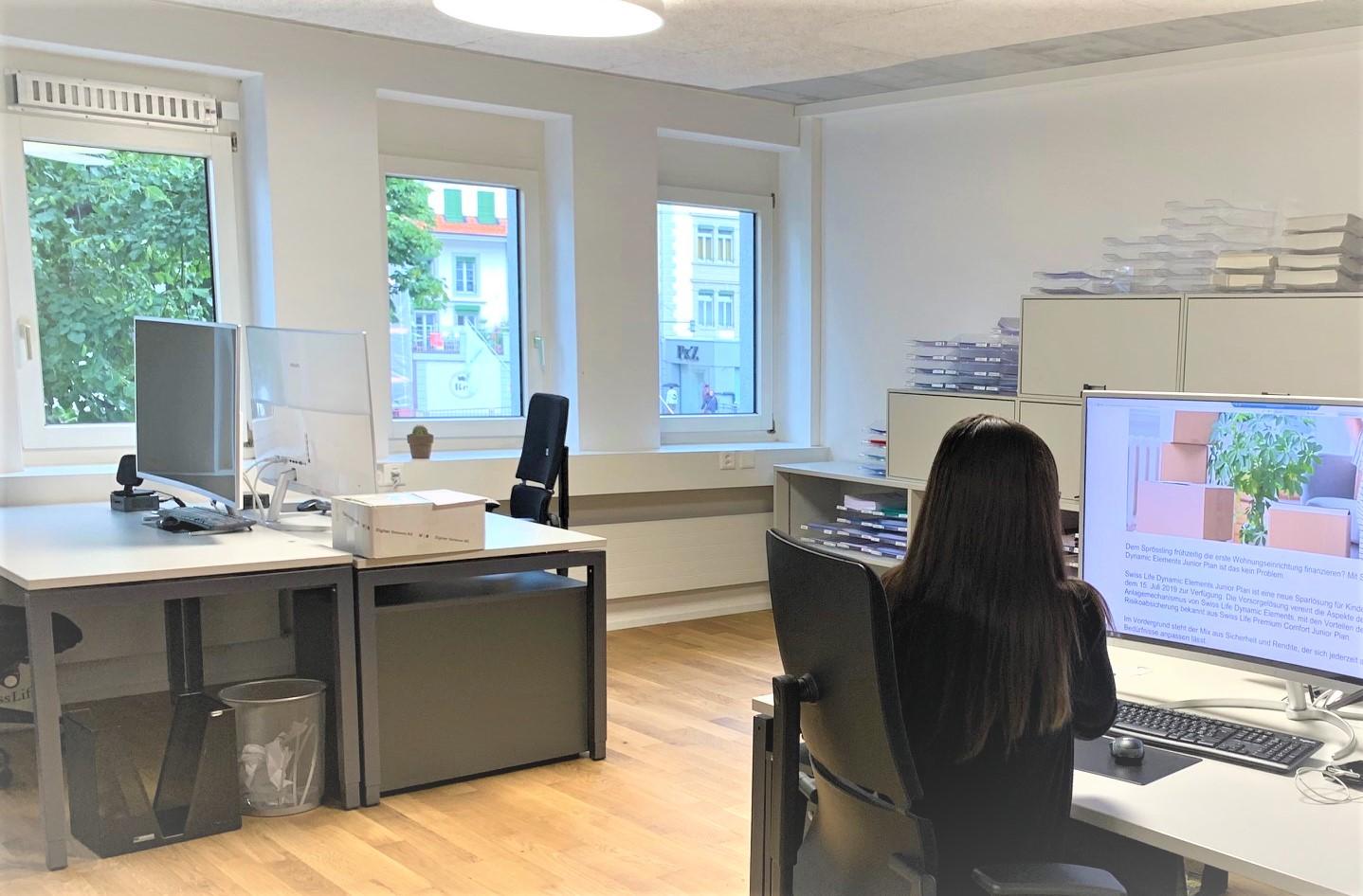 Grossraumbüro FINA Finanzplanung Thun